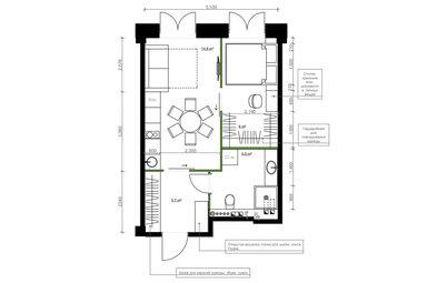 Поиск планировки: 4 варианта + финал для «евродвушки» на Садовом