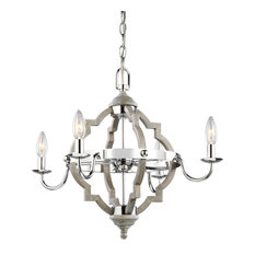 "Sea Gull Lighting 3124904 Socorro 4 Light 22"" Wide Taper Candle Chandelier"