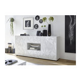 Prisma (white) 2 door 2 drawer sideboard