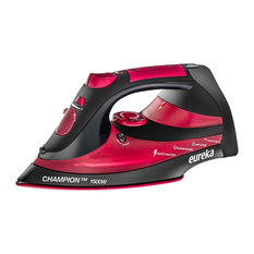 Eureka Champion 1500 Watt Iron With 8 ft. Retractable Cord Pouch Included, Red