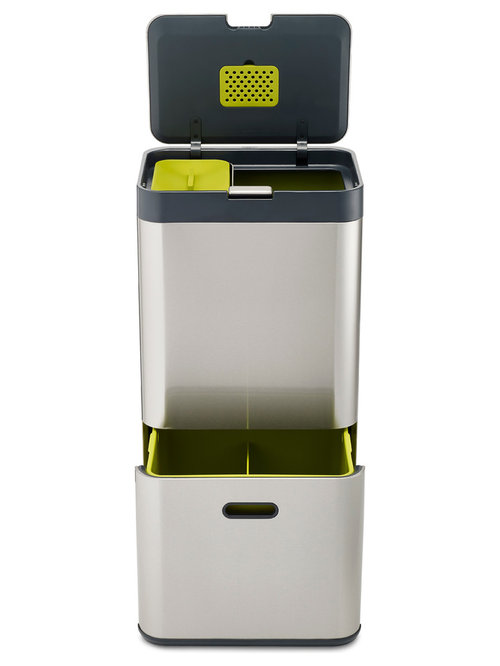 High Quality Excellent Joseph Joseph L Totem Stainless Steel Recycling Bin Recycling Bins  With Recycle Kitchen Bin