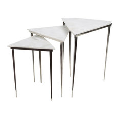 Westover Modern Marble Top Nesting Table Set
