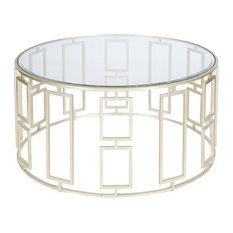 silver coffee tables   houzz
