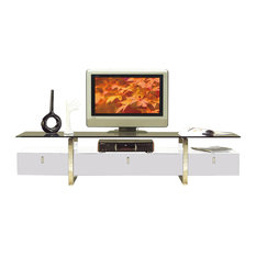 at home USA inc. - White Lacquer TV Stand - Entertainment Centers and Tv Stands