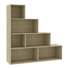 VidaXL Book Cabinet/Room Divider Versatile Sonoma Oak 61-inch Chipboard Shelf Rack