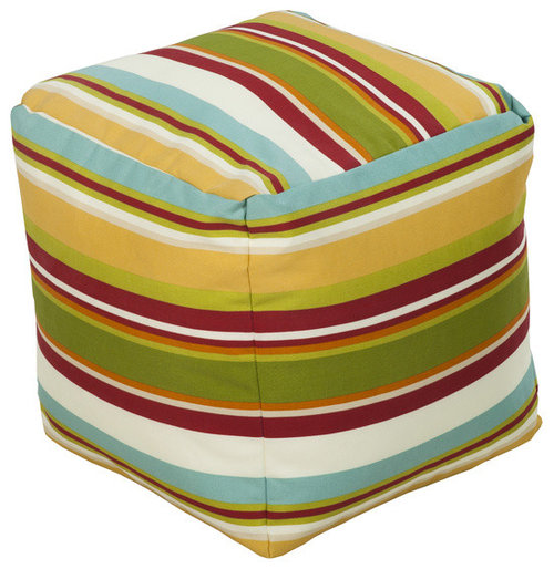 Surya Poufs- (POUF-113) - Floor Pillows And Poufs