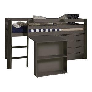 Pino Mid Sleeper Room Set, Taupe, Set of 4