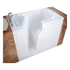 Meditub 26x46 Left Drain White Soaking Walk-In Bathtub