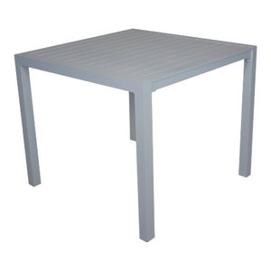 Outdoor Small Palma Dining Table, Silver