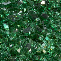 "Duluth Forge 1/4"" Classic Emerald Fire Glass, 10 lb. Bag Fire Pit Glass"