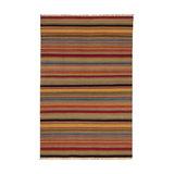 Ooty Stripe Wool Kilim Rug, Extra Large