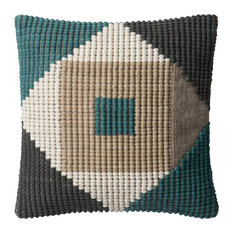 Poly-Set Pillow Cover, Teal and Multi, 18""