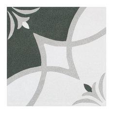 "SomerTile 7.75""x7.75"" Twenties Ceramic Floor and Wall Tile, Crest"