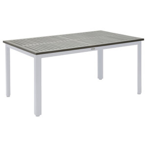 Nydala Outdoor Dining Table, White and Grey