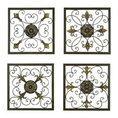 GwG Outlet - Metal Wall Plaque Set of 4 in 16H 16W - Metal Wall Art