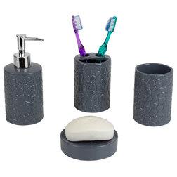 Contemporary Bathroom Accessory Sets by HOME BASICS