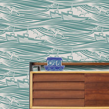 Eclectic Wallpaper by Mini Moderns