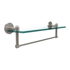 "Tango Collection 22"" Glass Vanity Shelf With Integrated Towel Bar"