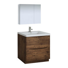 Tuscany 32-inch Rosewood Free Standing Bathroom Vanity With Medicine Cabinet