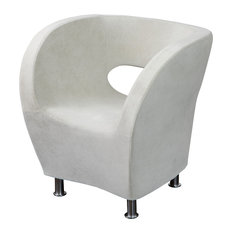 GDFStudio   Moda Modern Design Accent Chair, Ivory White   Armchairs And  Accent Chairs