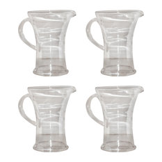 Pomeroy Provence Glass Set Of 4 Pitcher In Clear Finish 126154/S4