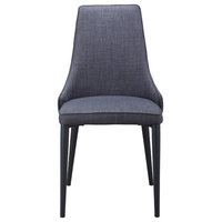 Moe's Home Hazel Dining Chairs Dark Gray, Set of 2