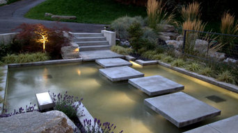 Concrete work-stone, retaining walls, turf & water features