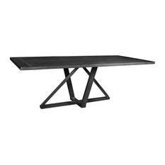 "Kincaid Rectangular Dining Table, 96"" Top, Gray"