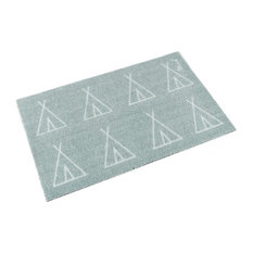 Lex Teepee Doormat, Mint and White