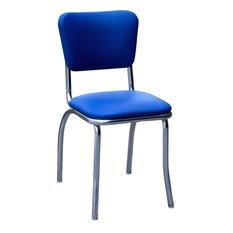 Chrome Kitchen Chair, Royal Blue
