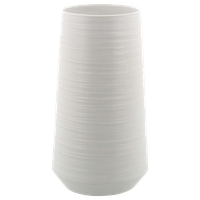 """Modern Porcelain Pear-Shaped Vase, White, 12"""""""
