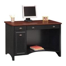 bush bush stanford 48 w wood computer desk in antique black desks and black desk vintage espresso wooden