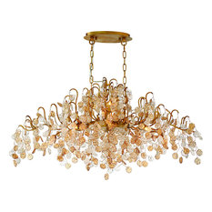 Campobasso 10-Light Oval Chandelier, Amber