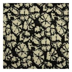 Amy Flower Chenille Jacquard Upholstery Fabric, Caviar
