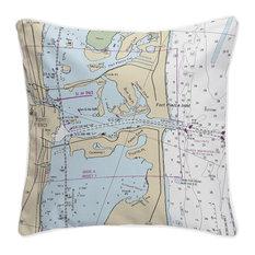 Fort Pierce Inlet, FL Nautical Chart Pillow