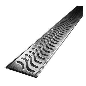 "Quartz by Aco Linear Drain Flag Design Plain Body, Stainless Steel, 28"""
