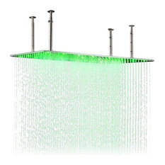 "Fontana 20""X40"" Rectangle Large Ceiling Mount LED Rain Shower Head"