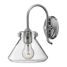 Congress Bell-Shaped Glass Wall Light, Chrome