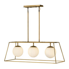 "Hinkley Lighting 4376 3 Light 36""W Linear Chandelier - Brass"
