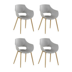 Alice Dining Chairs, Grey, Set of 4