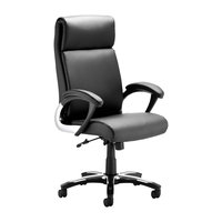 Romeo Black Leather Folding Executive Office Chair With Arms
