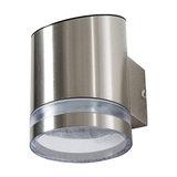 Salma 1-Light Outdoor Solar Light, Silver