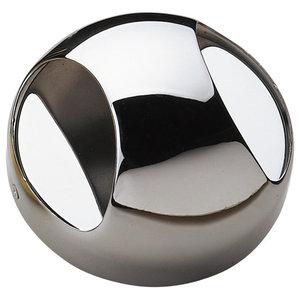 Savoy House Europe Contemporary Round Metal Sconce, Chrome