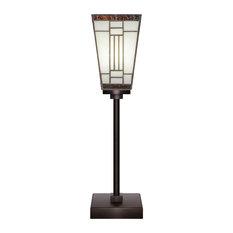 Luna Accent Table Lamp, Dark Granite Finish, Dark Granite