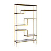 Versanora-Tier Display Etagere Faux Marble Open Book Shelves