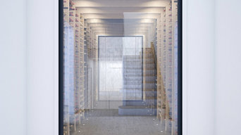 Contemporary wine cellar - CGI