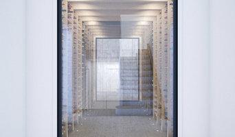 Contemporary wine cellar - CGI
