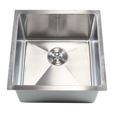 Ariel   Stainless Steel Undermount Single Bowl Kitchen/Bar/Prep Sink,  Brushed Stainl