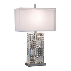 Table Lamp JOHN-RICHARD Stacked Square Perpendicular Prisms Double