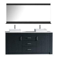 "Tavian 72"" Double Bathroom Vanity Set, Gray"